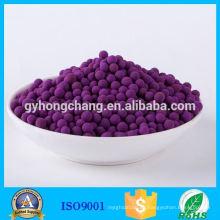Aseguramiento comercial Materiales de adsorción química Bola de alúmina activada con permanganato de potasio para la descomposición del gas nocivo