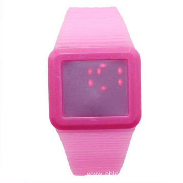 New Popular Square Silicone Digital Touch Watch For Unisex