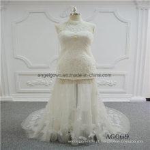 Novo design halter sereia vestido de noiva