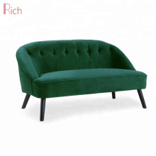 Scandinavian-style Modernized Green Velvet Upholstery Loveseat Sofa Fabric Living Room Seating Sofas