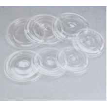 Tapa plana de mascota con agujero de paja para vaso de plástico