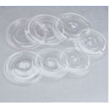 Pet Flat Lid com buraco de palha para copo de plástico