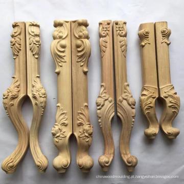 Pé de madeira cinzelado para o pé da mobília da tabela, pés do sofá