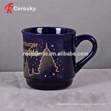 Wholesale 300ml dark blue beverage mug