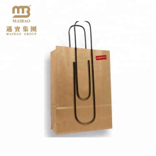 First-rate Vivid Printing Durable Custom Shopping Bag Made of Kraft Paper with Logo