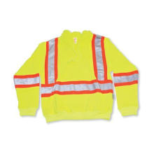Lime Green 100% Polyester Hoodie with Reflective Tape
