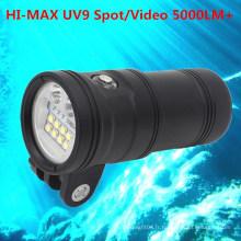 Plongée sous-marine caméra vidéo grand angle caméra Dive Light Undermath 150M