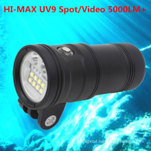 Scuba Diving LED Wide Angle Video Camera Dive Light Underwater 150M
