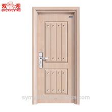 Новая современная входная дверь конструкции стальных дома межкомнатная дверь гальванизированная панель легирующего металла