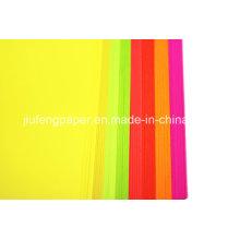 Papel 100% de papel de cor com corante de madeira nativa de alta qualidade