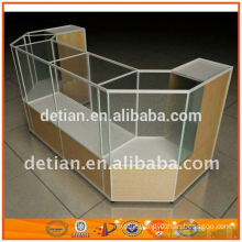 durable display cabinet with glass doors metal shopping display rack display paper rack