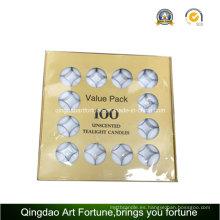 Paquete de valor de 4 horas Vela blanca sin teñir de tealight