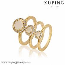 12872-Xuping liga de cobre preço de fábrica 3pcs tamanho diferente conjunto de anéis