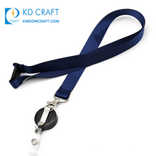 High quality cheap custom design you own logo silk screen printing promotional retractable blank lanyard with badge reel