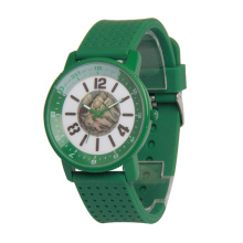 Colorful Alloy Case Wrist Watch,Geneva Silicone Strap Watch