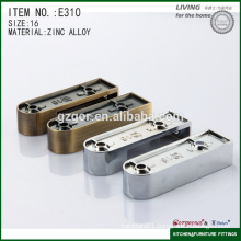 luxury long flat tube flange for kitchen rail support bracket