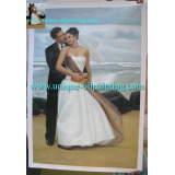 Oil Painting, Portrait Oil Painting, Wedding Oil Painting