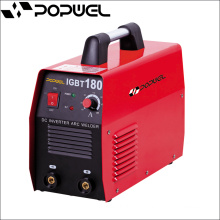 Made In China Wholesale Popwel MMA IGBT 180 Welding Machine DC Inverter Arc Welding Machine Red Printed