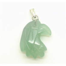 Eagle head Shape Green Aventurine pendant