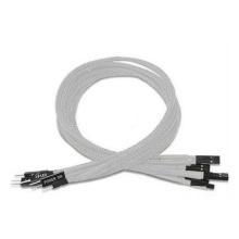 Câble d'extension de puissance HDD LED blanc à manches simples