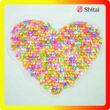 Customized for Sequin Patches Best sells colorful heart iron on patches supply to Russian Federation Wholesale