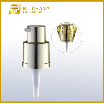 16mm aluminium cream lotion pump with diamond overcap