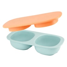 Baby one-piece Silicone Suction Double Bowl