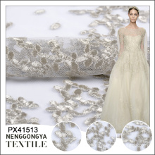 Oem service Cheap fashion wedding 3d embroidered lace fabric