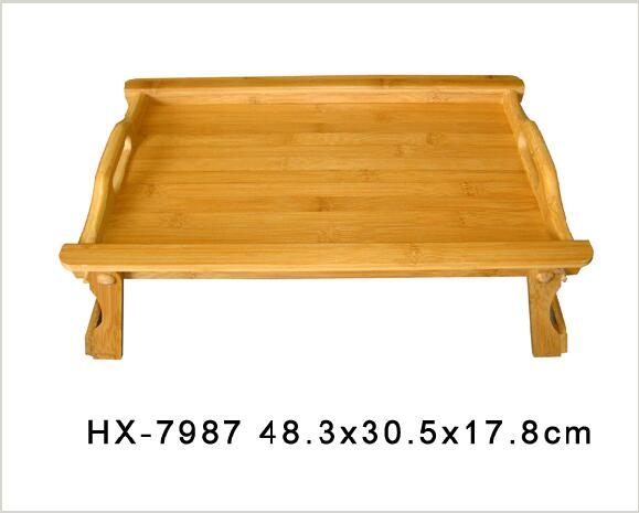 bamboo bed table with leg