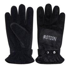 Men′s Fashion Black PU Leather Sports Gloves (YKY5010)