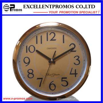 12inch 30diameter Logo impressão rodada de plástico Wall Clock (EP-Item12B)