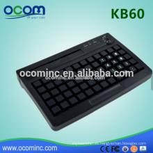 Teclado programable KB60 Mini POS integrado con lector de tarjetas