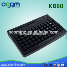 KB60 Mini POS Programmable Keyboard Intergrated With Card Reader