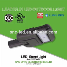 Adjustable Arm UL DLC Certified 60w LED Area Light with Surge Protector