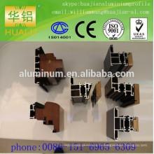 Китай высококачественные дерево-алюминиевые окна, двери и профиль, профиль алюминиевых профилей экструзии,