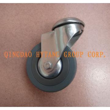 Giratoria de ruedas goma gris caster