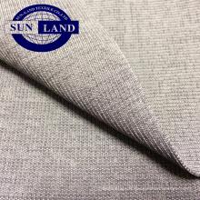 Tissu polyester spandex teint 2x2 nervures pour poignets à la base