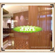 Malla decorativa de la pared de cortina / malla de alambre decorativa
