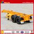 Tandem 2 Achsen 20ft Container Transport Skelett Semi Trailer