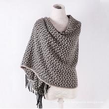 Caxemira da mulher como clássico verificado lenço de xale de malha de inverno impressão (sp303)