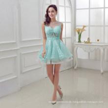 Frauen-Vorrat-Sleeveless Tulle, der Perlen-Cocktail-Abschlussball-Kleid bördelt