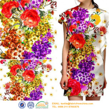 2017 fashion digital print polyester bomullstyg