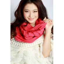 Écharpe en tricot acrylique (12-BR-201712-5.1)