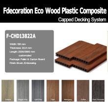 Wood Strukturierte Co-Extrusion Komposit WPC Terrassendielen