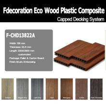Decking texturizado con textura de madera WPC compuesto de coextrusión