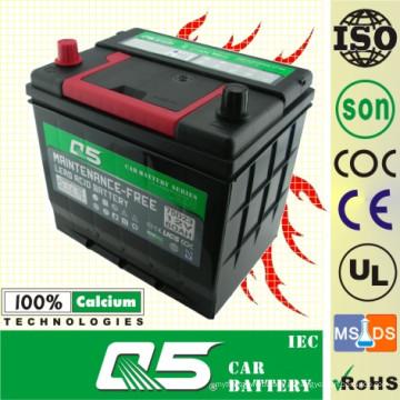 JIS Standard Auto Bateria-Manutenção Livre JIS-75D23 12V65AH