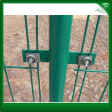 PVC green twin wire security fencing panels