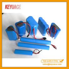 Tube de rétrécissement de la chaleur de PVC de paquet de batterie bleu