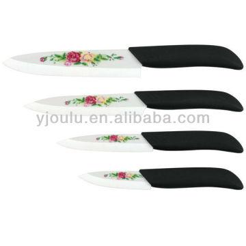 Couteau en céramique imprimé OL022 avec poignée TPR