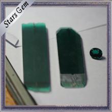 Laboratorio de alta calidad creado esmeralda áspera joyería de Rusia